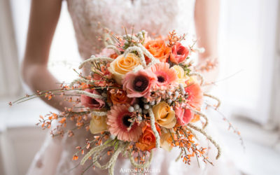Styled Bridal Shooting in der Trendfarbe 'LivingCoral'